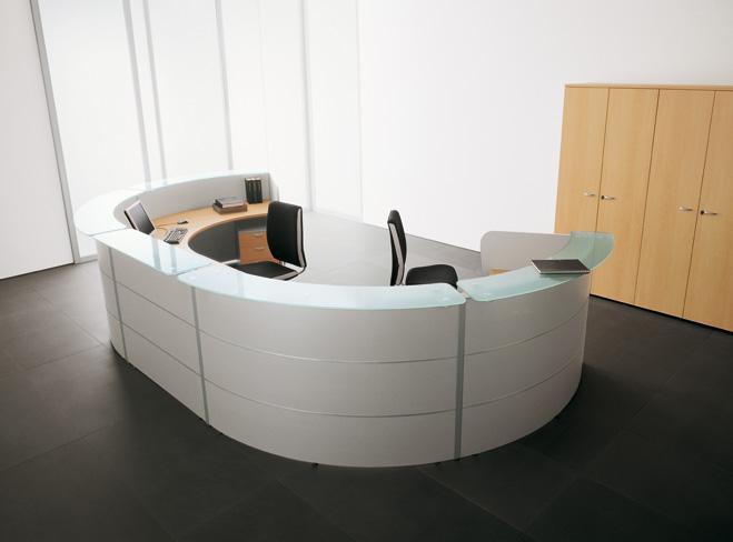 Linea loop stacsystem for Arredo ufficio reception